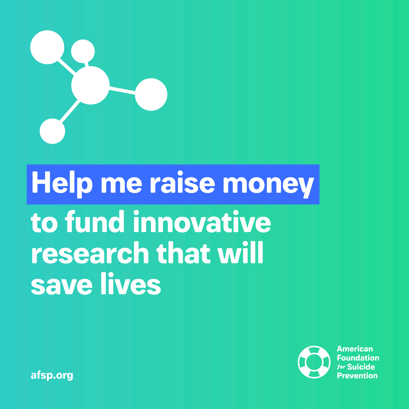 Help me raise money to fund innovative research that will save lives