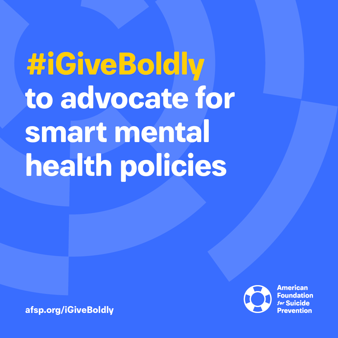 #iGiveBoldly to advocate for smart mental health policies #GivingTuesday