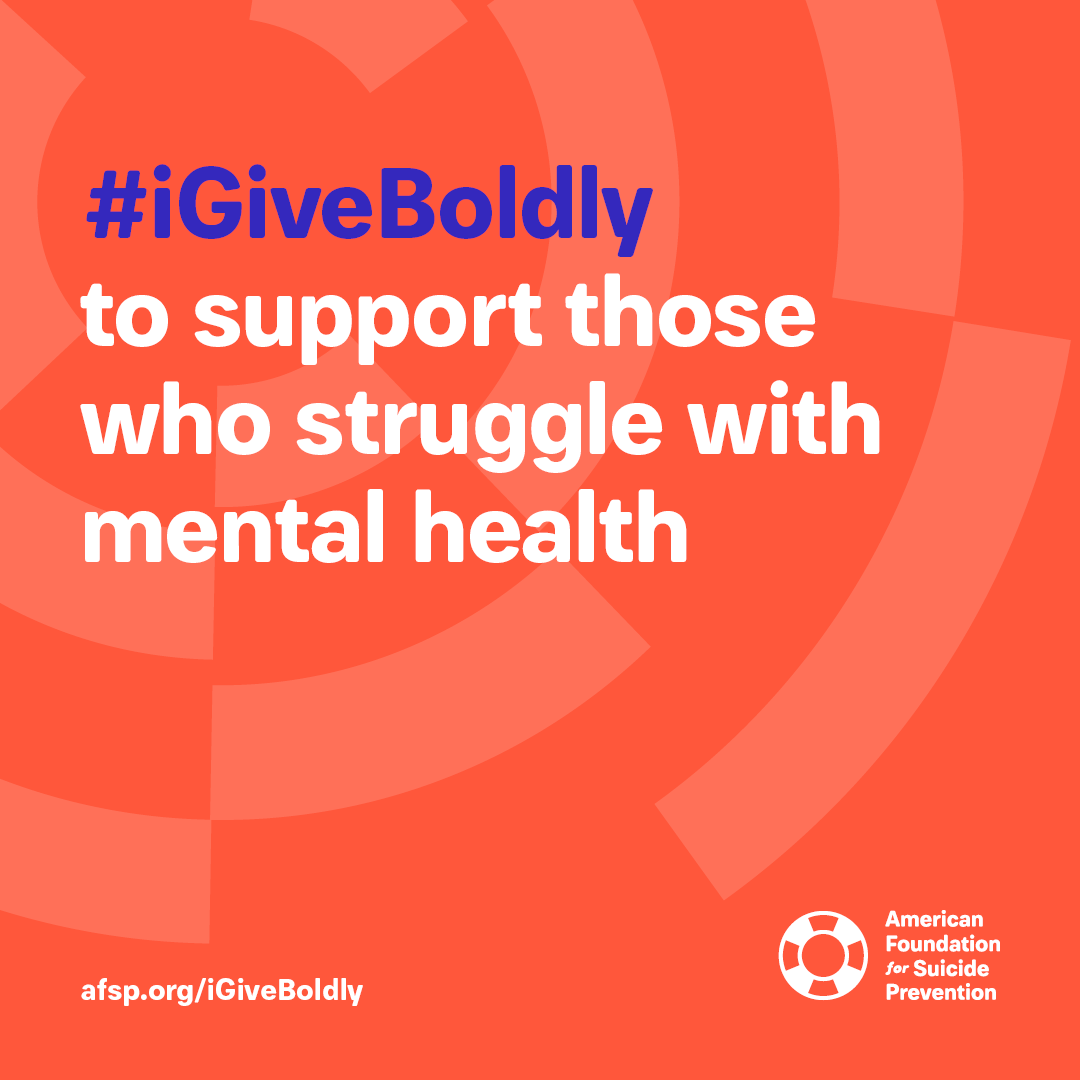 #iGiveBoldly to support those who struggle with mental health #GivingTuesday
