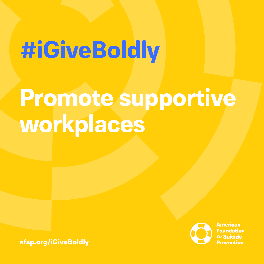 #iGiveBoldly Promote supportive workplaces #GivingTuesday