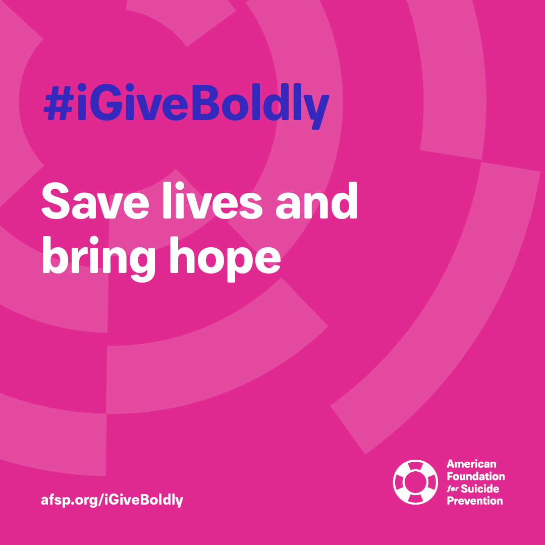 #iGiveBoldly Save lives and bring hope #GivingTuesday