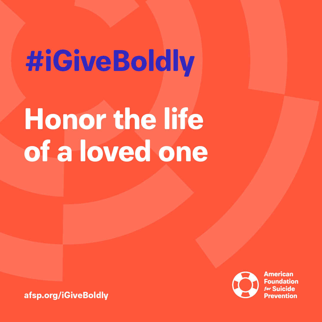 #iGiveBoldly Honor the life of a loved one #GivingTuesday