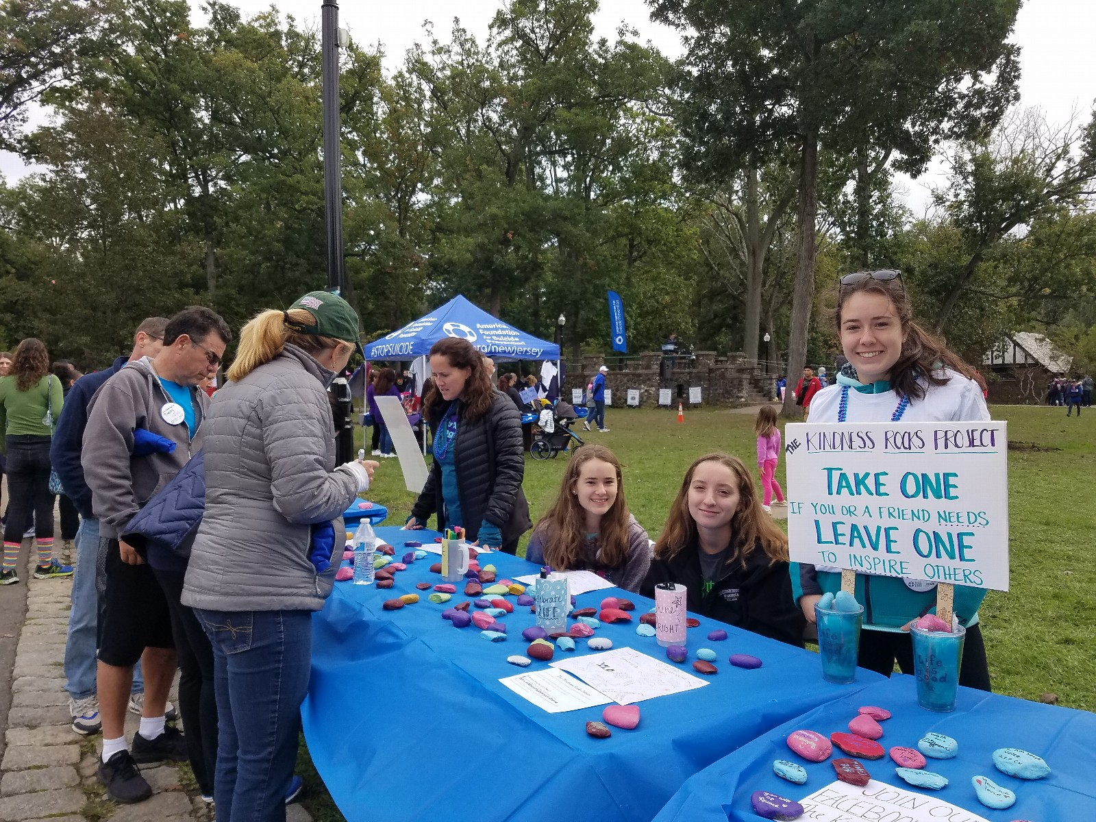 West Essex Out of the Darkness Walk Resource Table