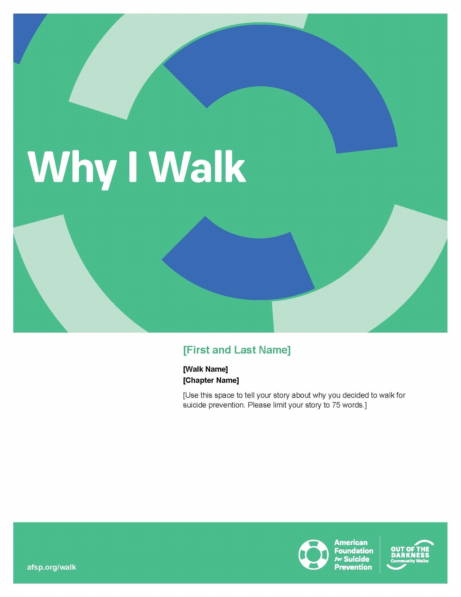 Why I Walk Flyer