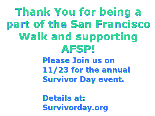 Become a sponsor of the SF Walk!