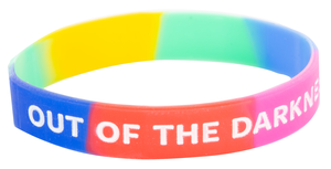 Out of the Darkness multi-colored wristband