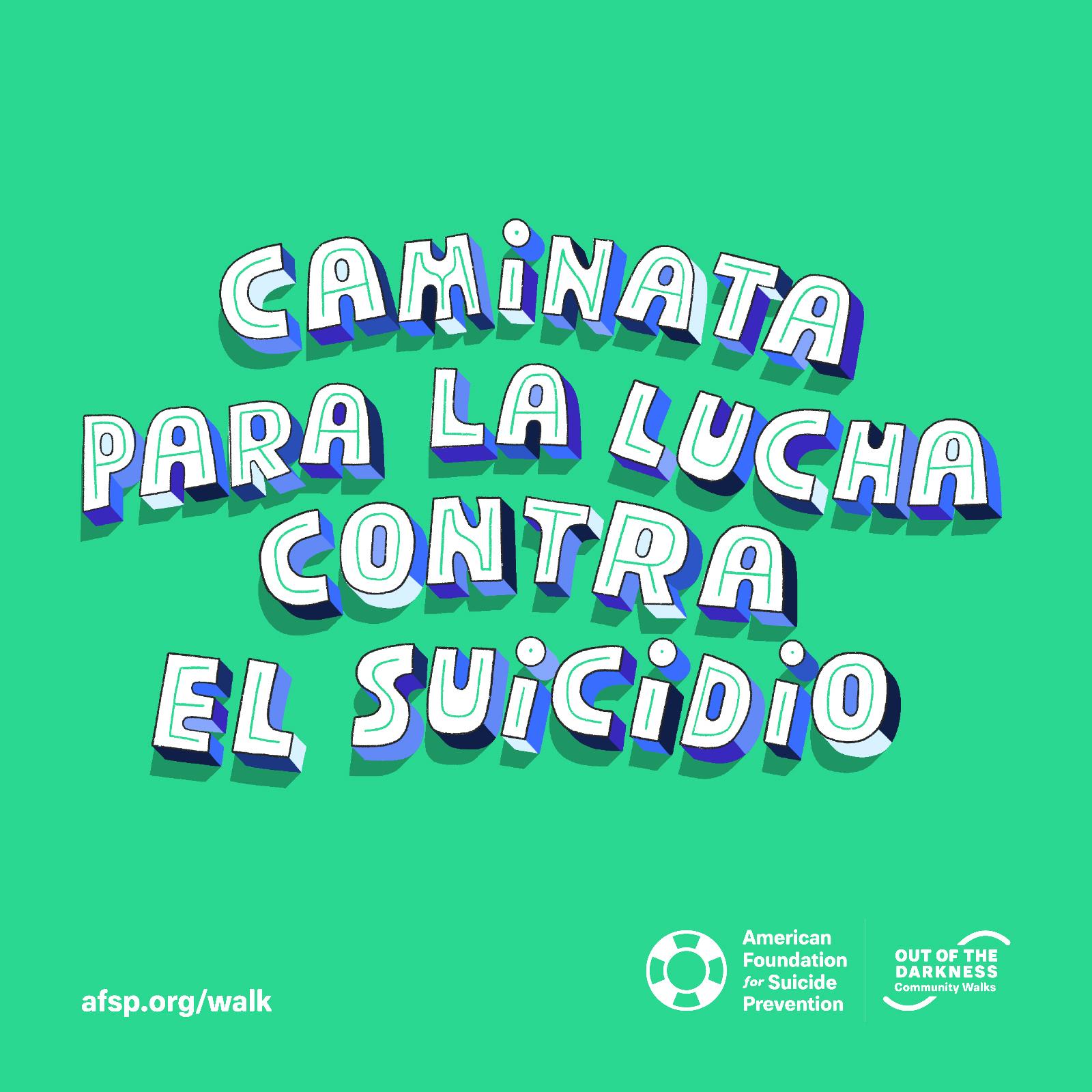 Caminata Para La Lucha Contra El Suicidio