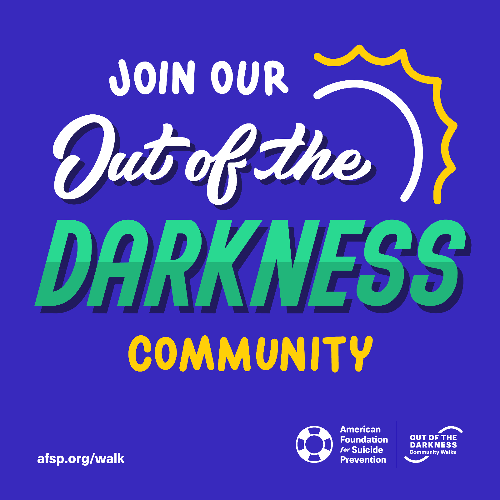Join Our Out of the Darkness Community