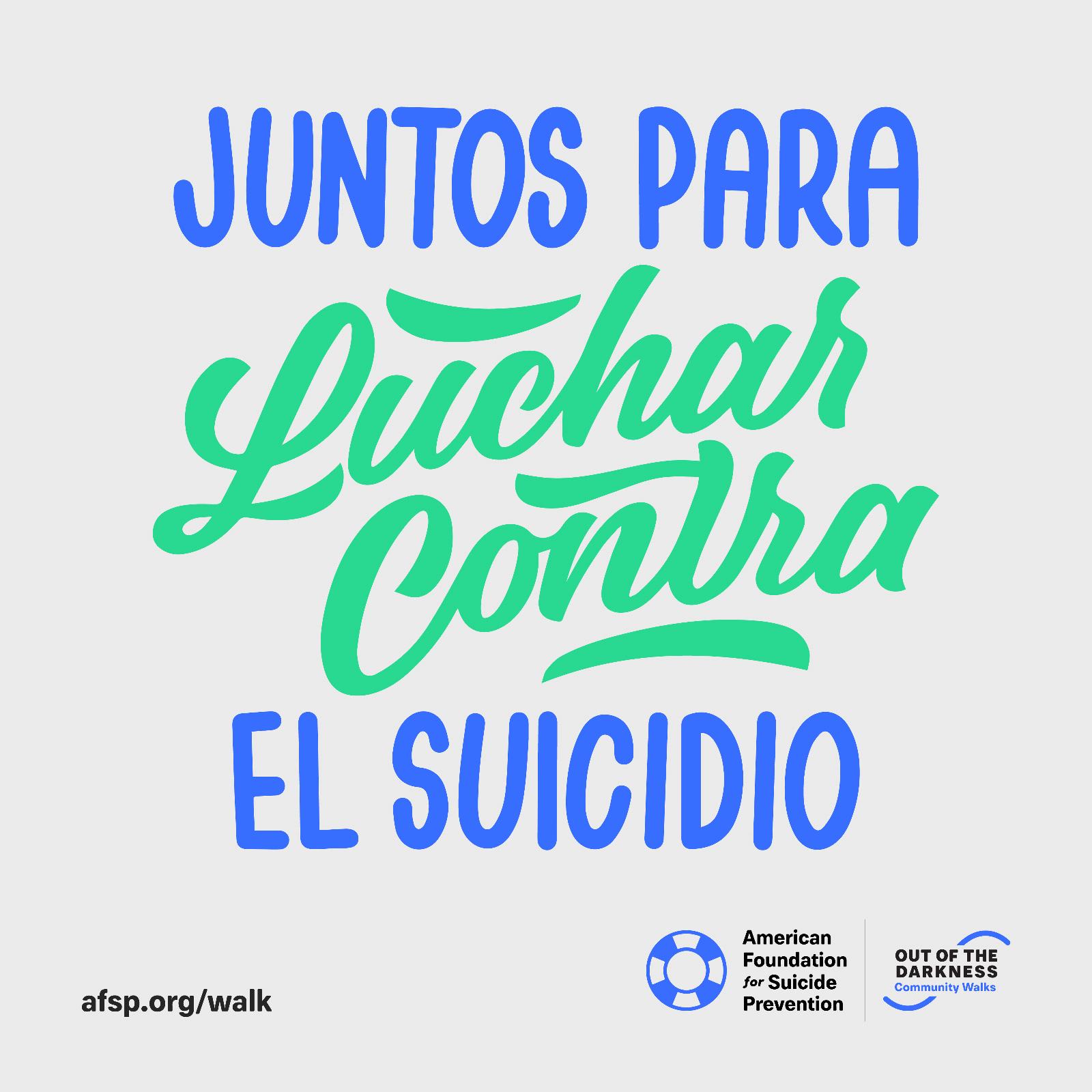 Juntos Para Luchar Contra El Suicidio
