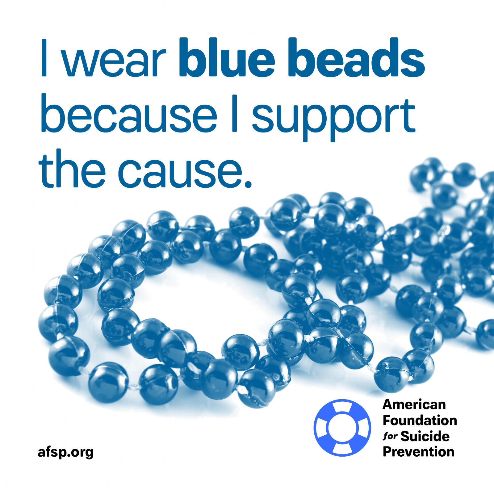 Blue beads because I support suicide prevention