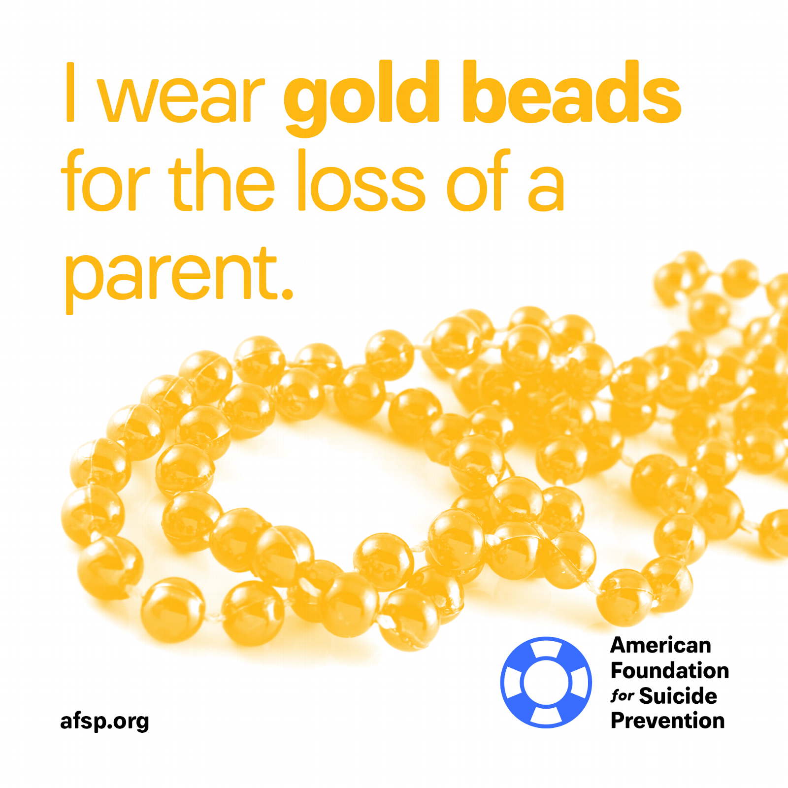 Gold beads for loss of a parent