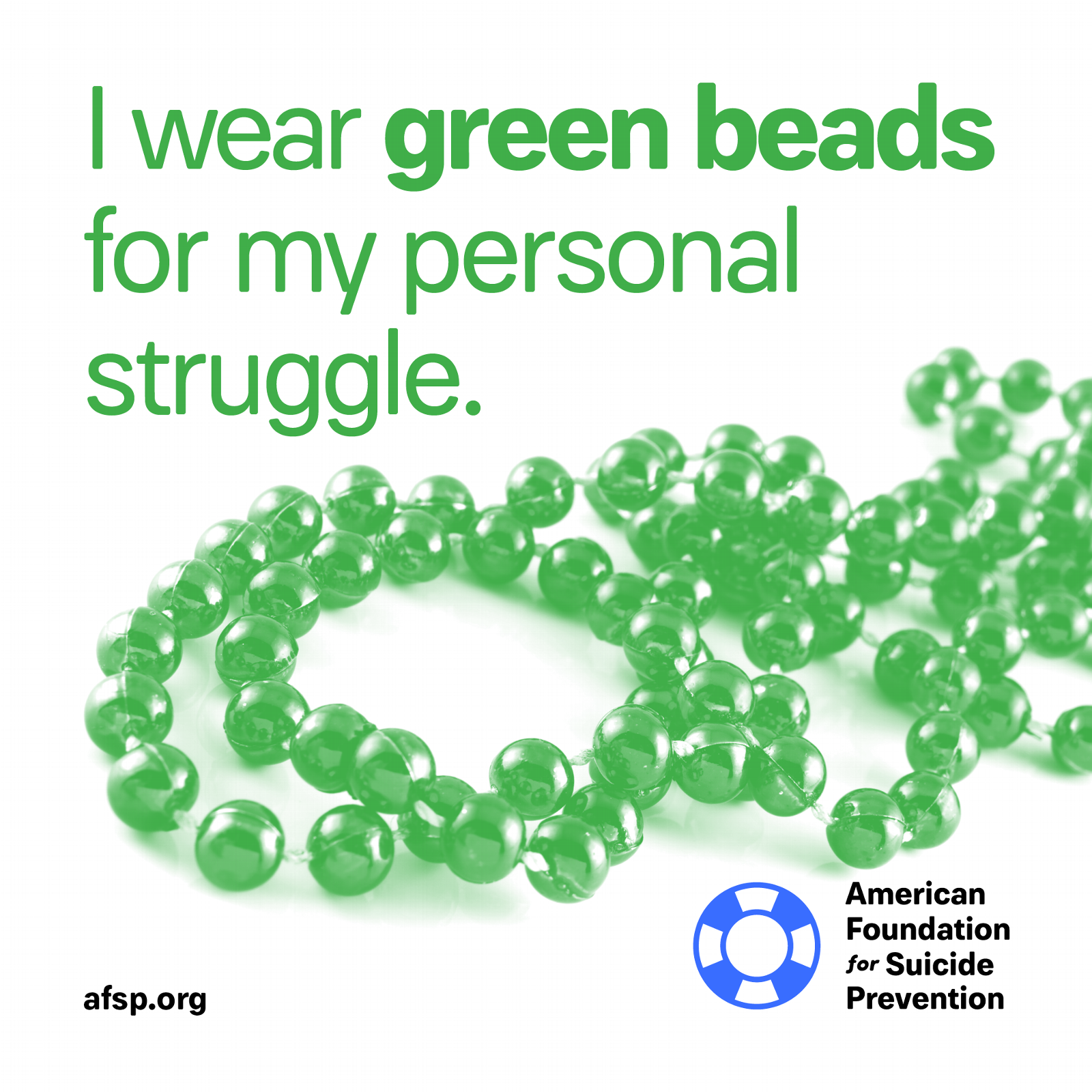 Green beads for my personal struggle