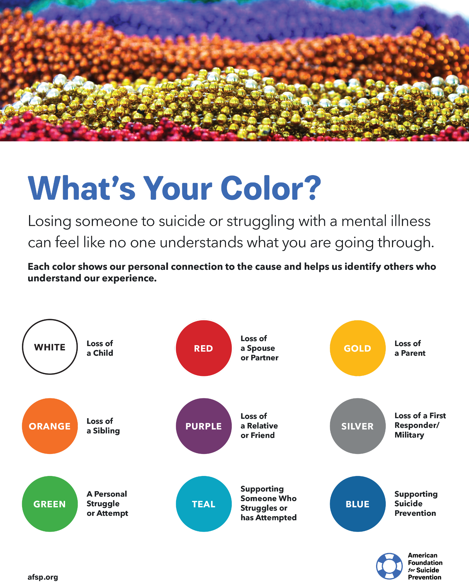 What's Your Color - honor bead flyer