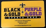 Black and Gold Sports Shop