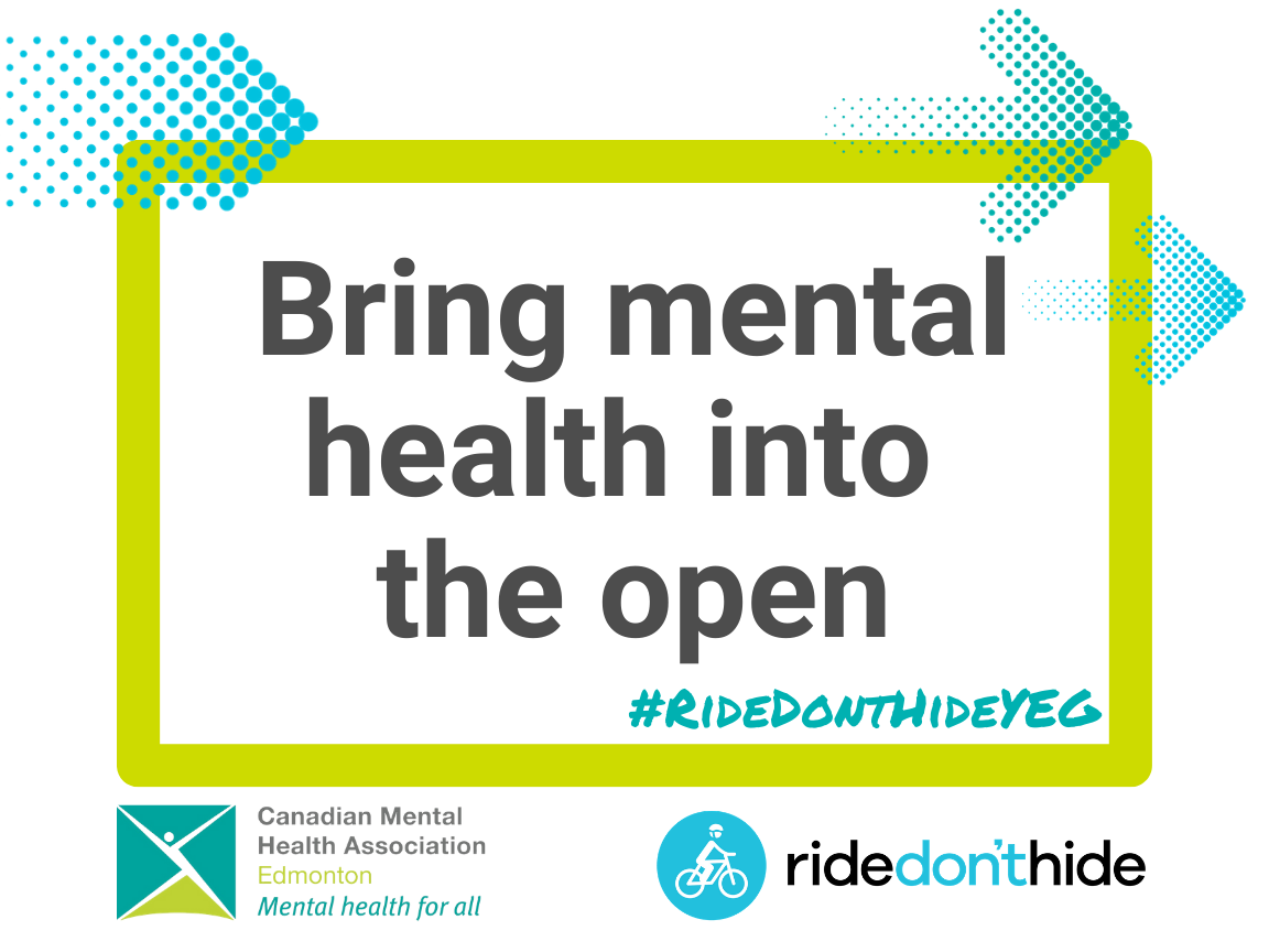 A printable sign to use on social media. Reads: Bring mental health into the open