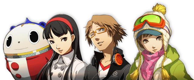 Main cast of Persona 4 Golden on PS Vita