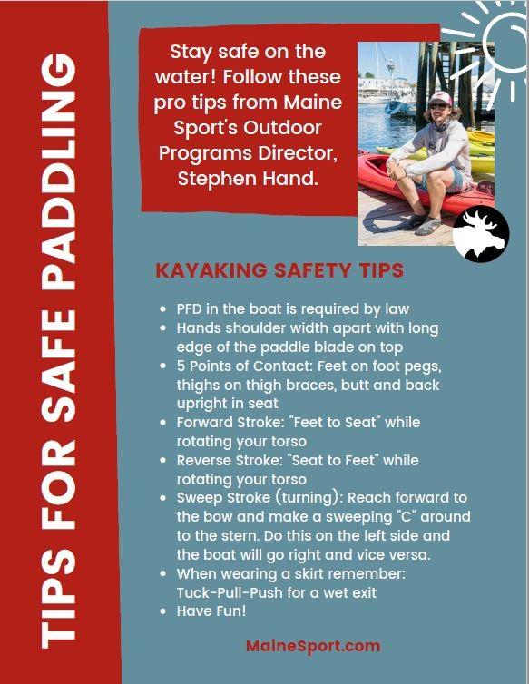 Maine Sport Paddling Tip