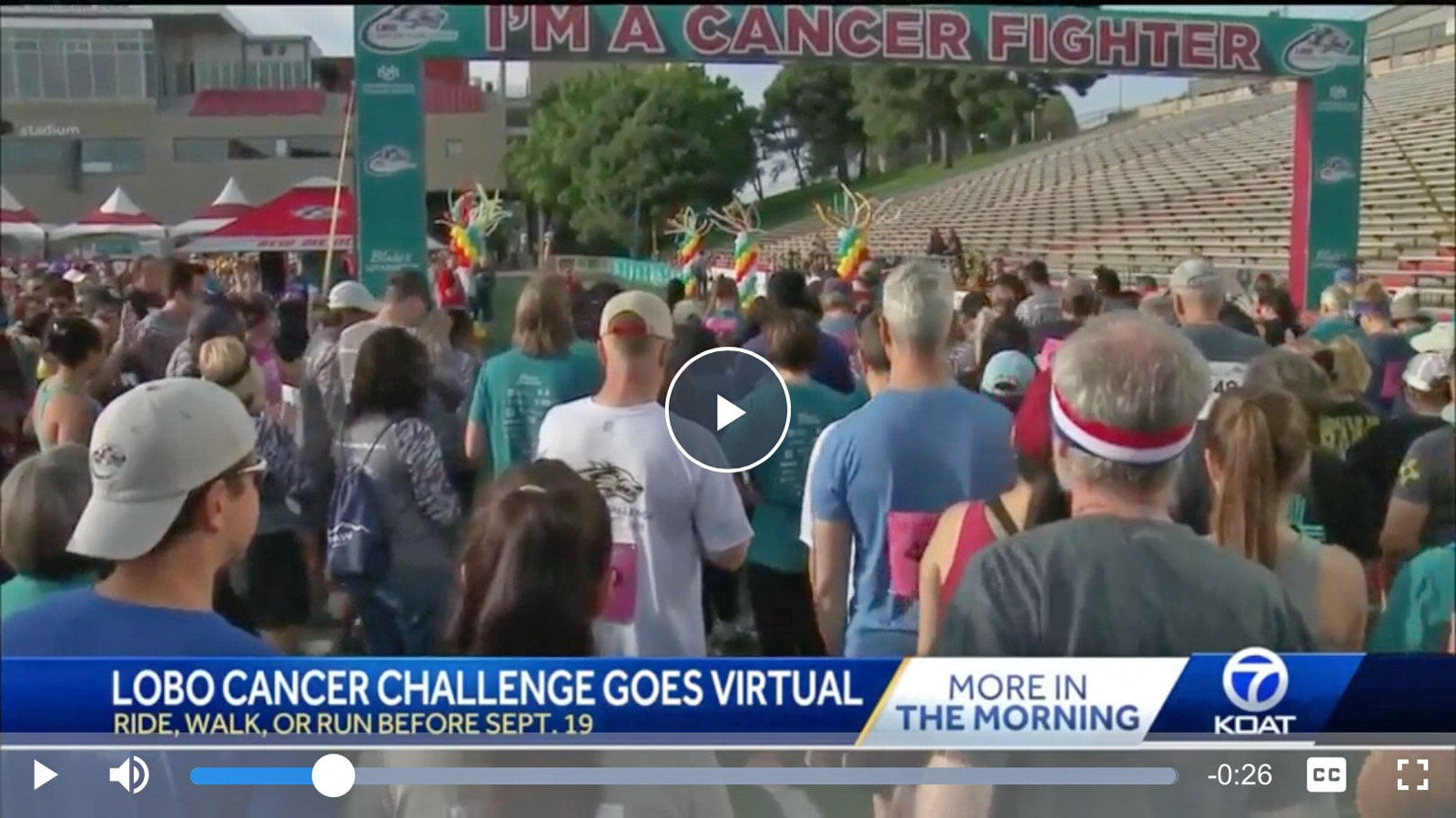 KOAT previews the 2020 Lobo Cancer Challenge virtual event