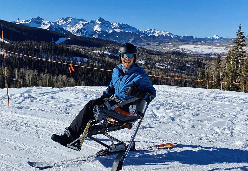 Kyle on the slopes