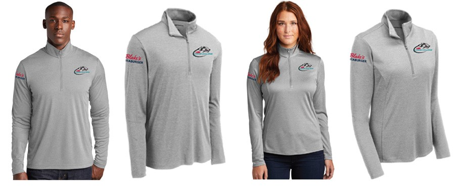 Quarter Zip pullovers - mens and womens for the Lobo Cancer Challenge