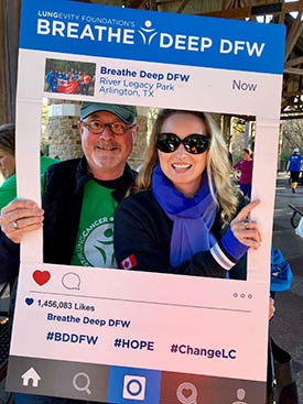 Tom and Martha Galli at Breathe Deep DFW