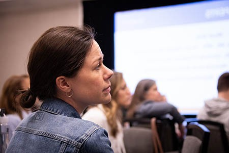 Person attending conference