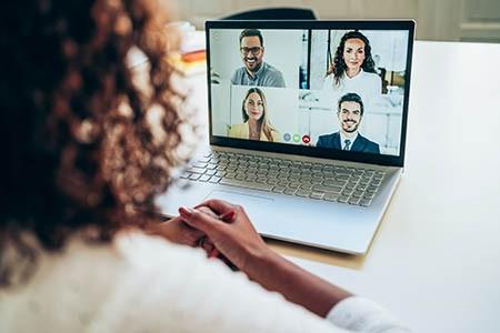 virtual conference screen