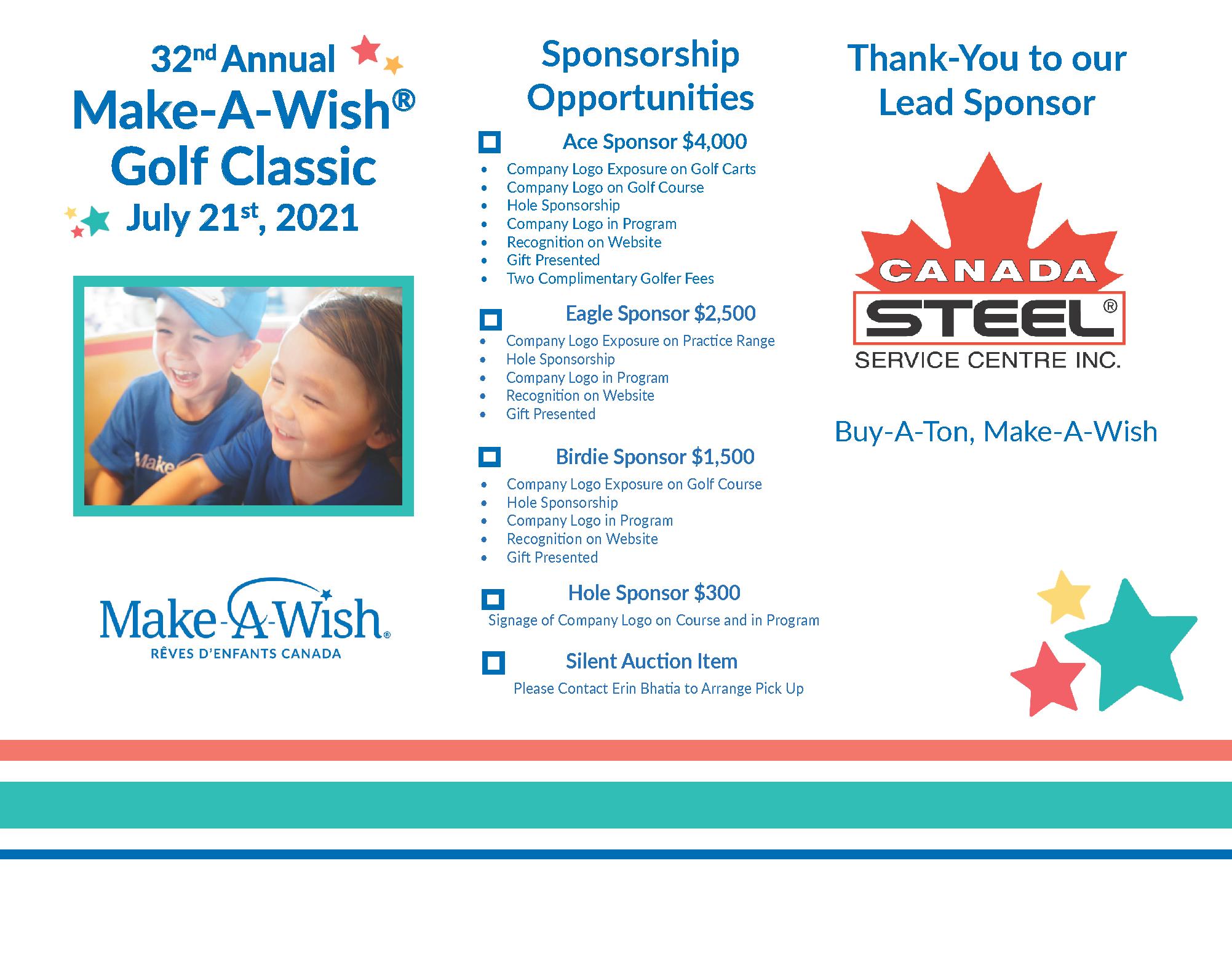 32nd Annual Make-A-Wish Golf Classic