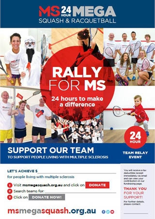 Mega Squash - Support Our Team Poster