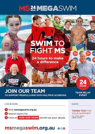 Mega Swim - Joing Our Team Poster