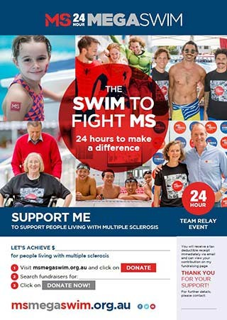 Mega Swim - Support Me Poster