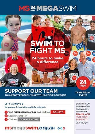 Mega Swim - Support Our Team Poster