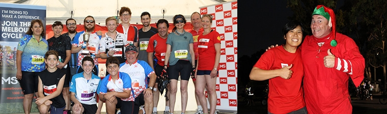 MS Melbourne Cycle Fundraising Rewards & Awards
