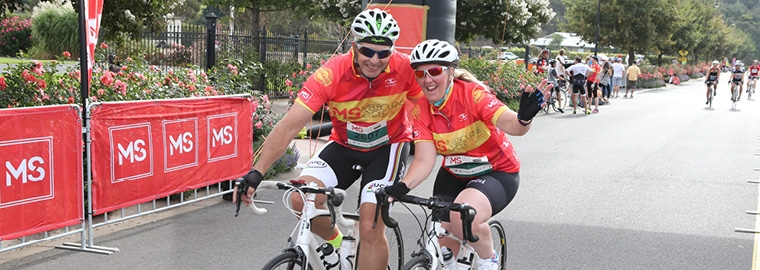 Online Fundraising Portal for the MS Melbourne Cycle