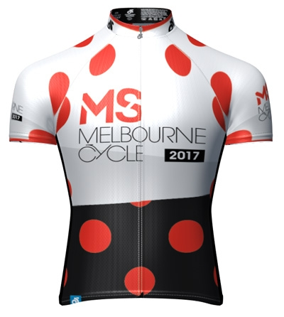 MS Melbourne Cycle Tour Down Under Polka Dot Jersey