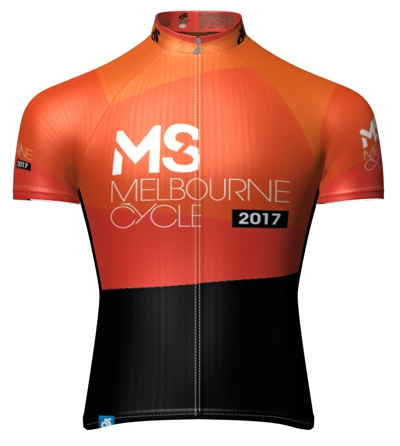 MS Melbourne Cycle Tour Down Under Ochre Jersey