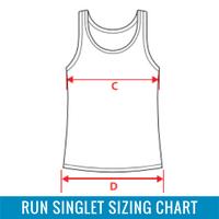 Running Singlet Sizing Chart