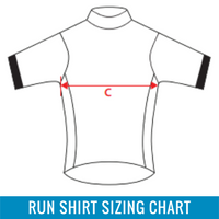 Running Shirt Sizing Chart