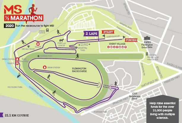 21.1KM Course Map