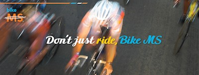 Don't just ride, Bike MS banner image