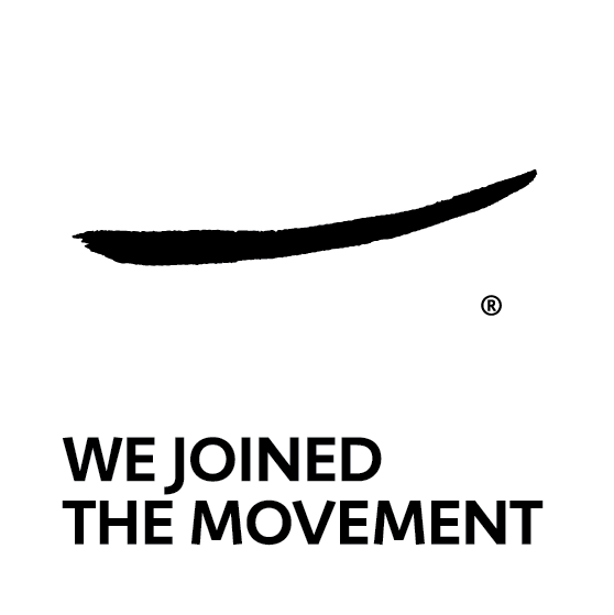 We Joined the Movement Vertical - black and white