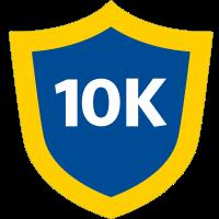 10k badge