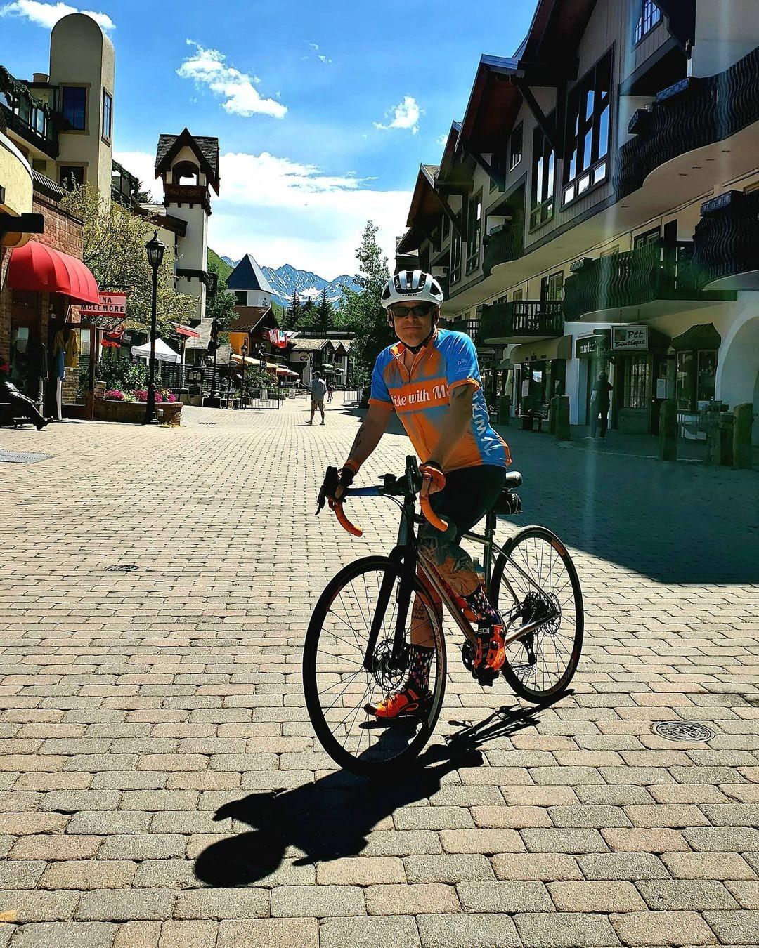 Joey on his bike