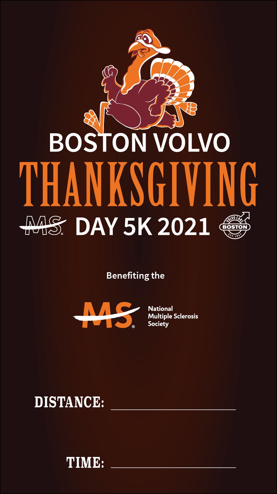 Boston Volvo Thanksgiving Day 5k 2021 logo