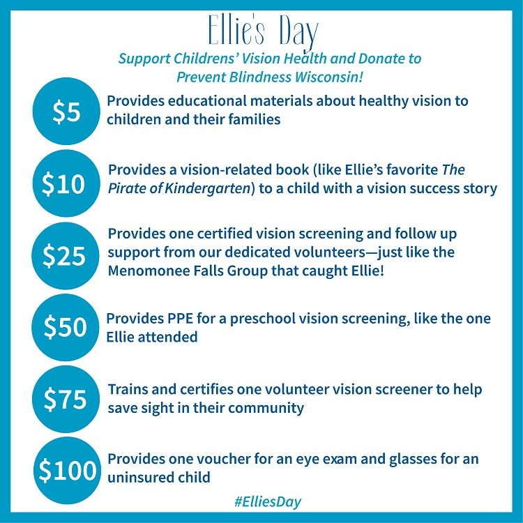 Ellie's Day  - Support Children's Vision Health and Donate to Prevent Blindness Wisconsin!