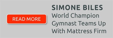 Simone Biles - World Champion Gymnast Teams up with Mattress Firm - Read More