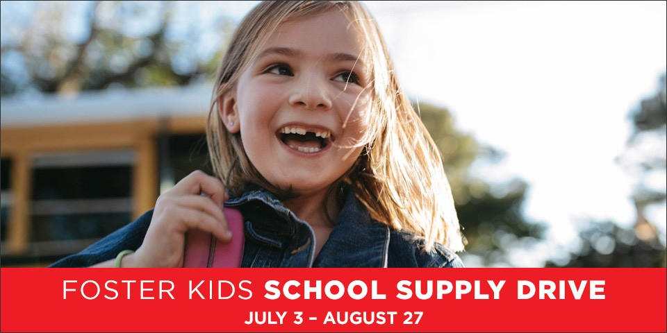 Mattress Firm Foster Kids School Supply Drive July 3 - August 27