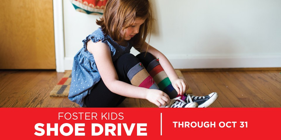 Mattress Firm Foster Kids Shoe Drive August 28 - October 31