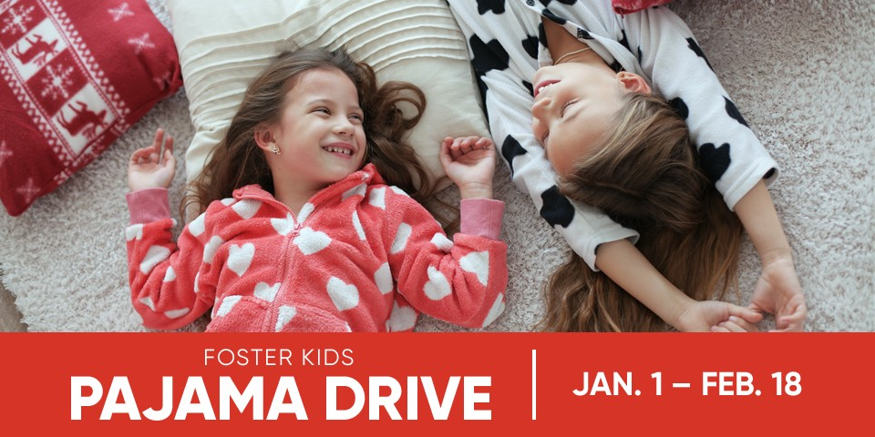 Mattress Firm Foster Kids - Pajama Drive - January 1 through February 18