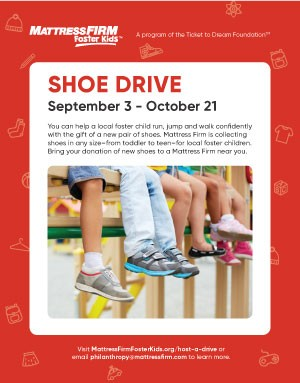 Foster Kids Shoe Drive Poster